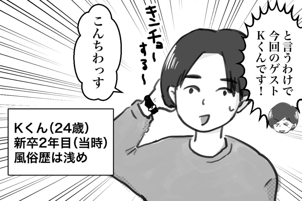 逆アンケートのゲストKくん登場